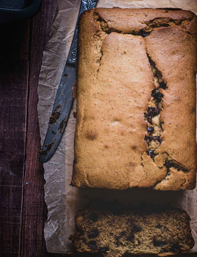 Chocolate chip plantain bread