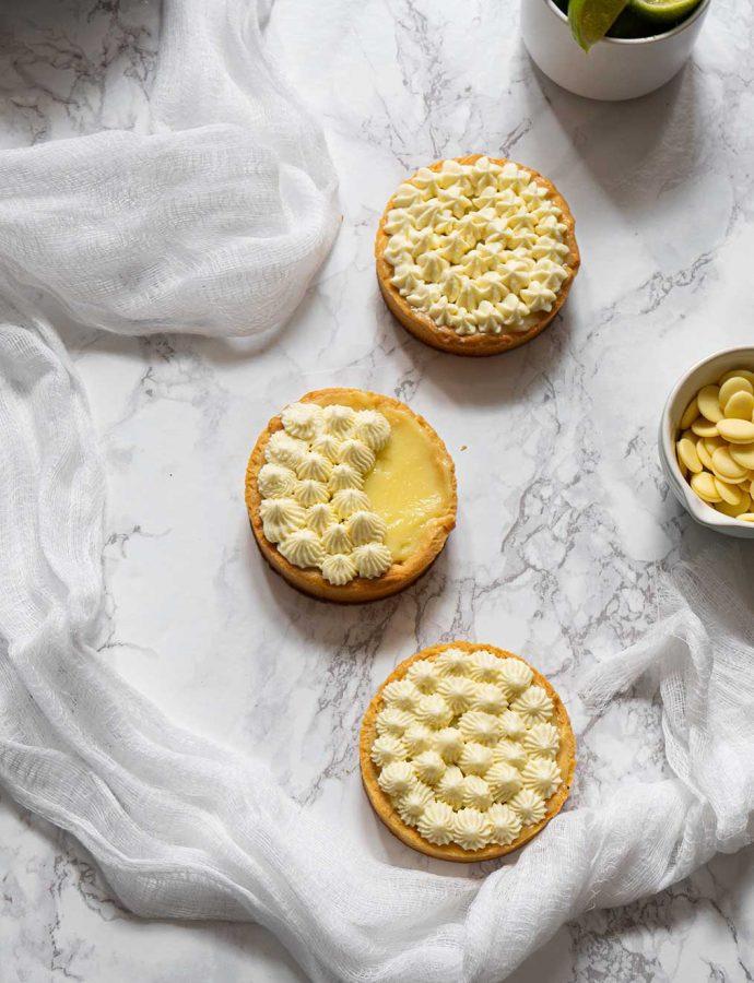 Tartelettes à la lime et chocolat blanc