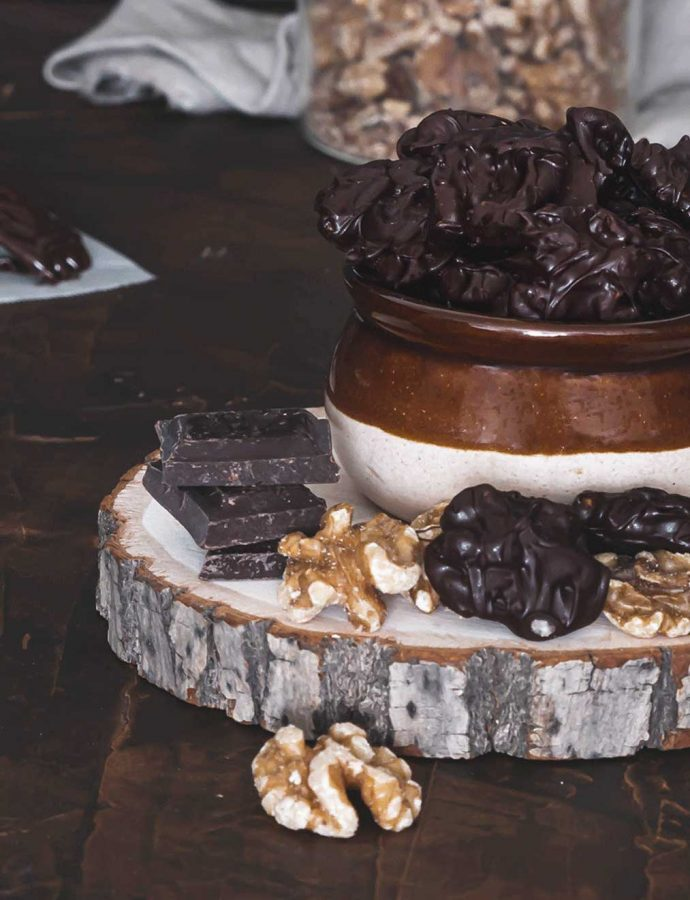 Noix au chocolat , en-cas rapide