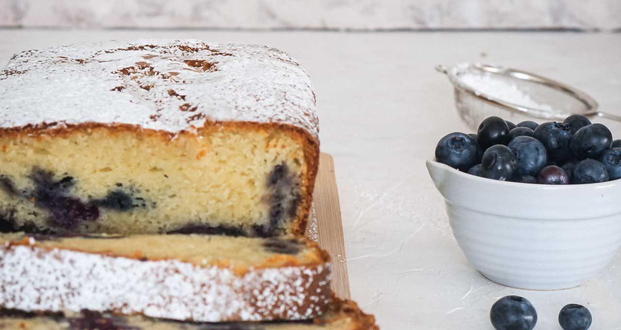 Gâteau aux bleuets & mascarpone