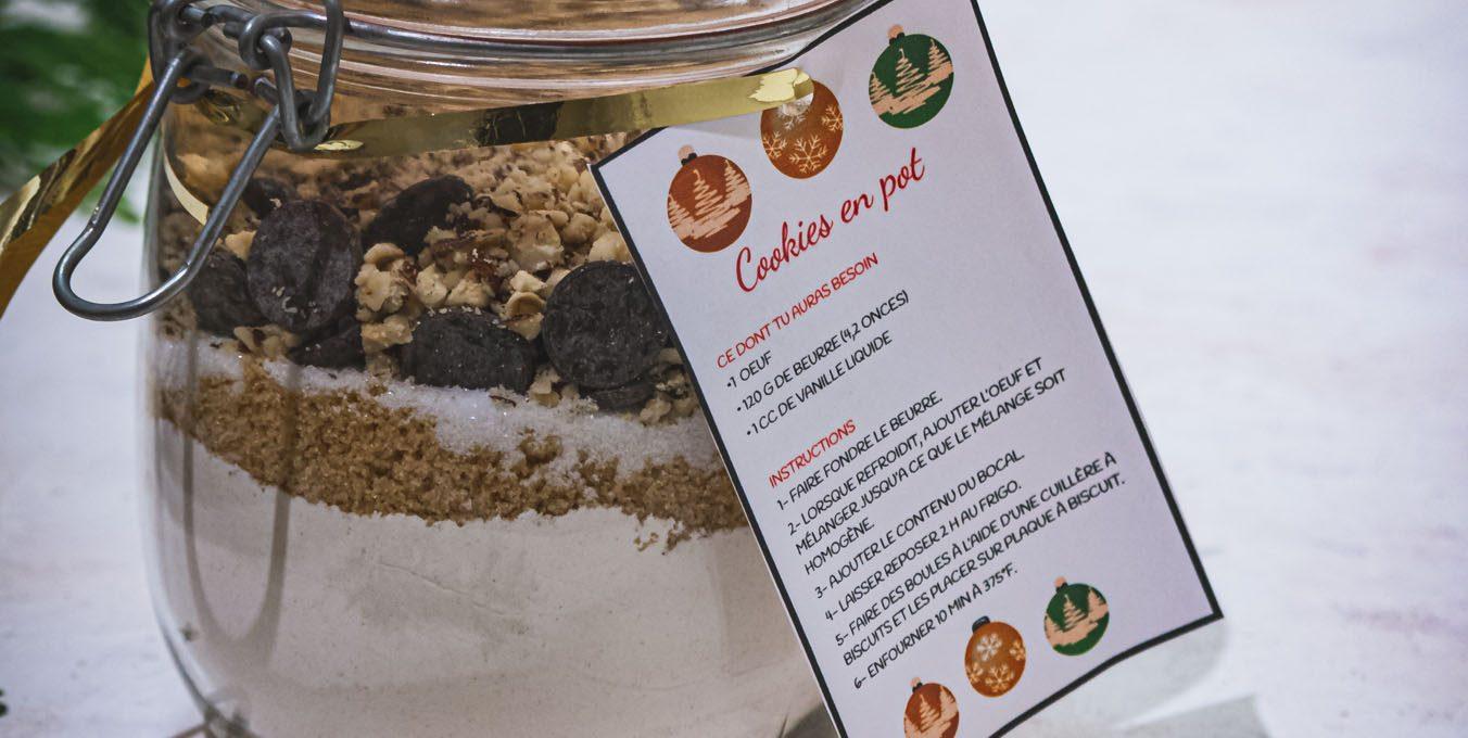 Cookies dans un pot – Idée cadeau pour les fêtes