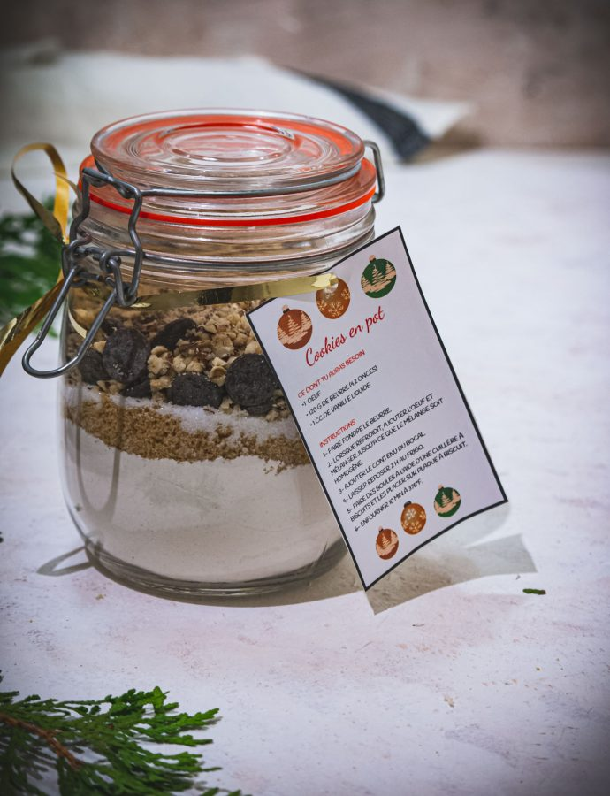 Cookies in a jar – A gourmet gift idea for the holiday