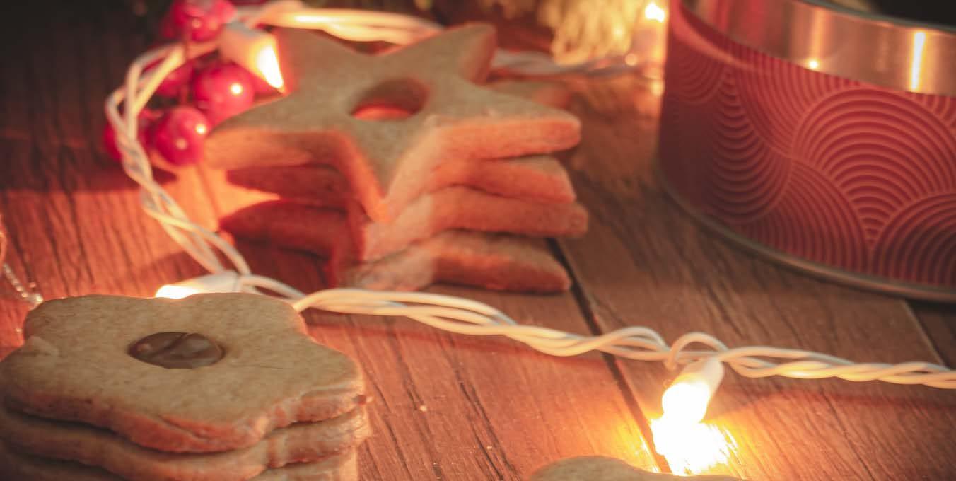 Biscuits de Noël, à la cannelle et à la pâte à tartiner