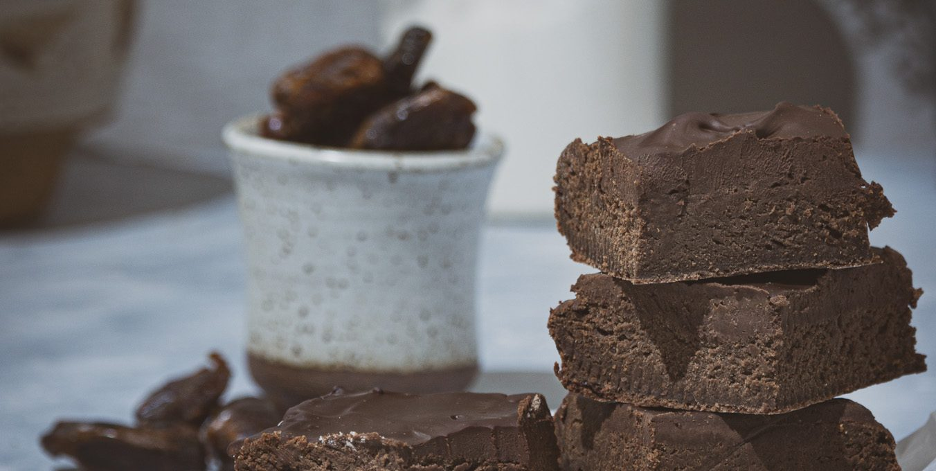 Brownies fondant sans sucre ajouté et sans beurre